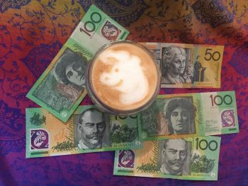 AUD save for cost of move to UK